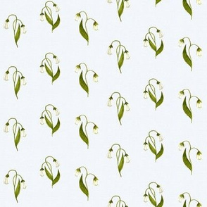 Lilly Green on White Linen