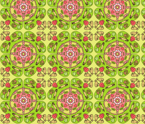 mandala fabric by roxiespeople on Spoonflower - custom fabric