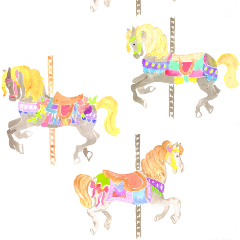 carousel horses fabric by erinanne on Spoonflower - custom fabric