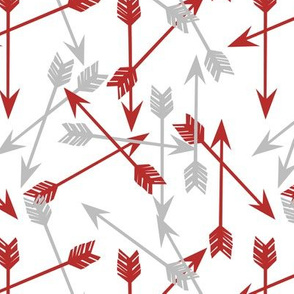 arrows fabric // red and grey arrow fabric coordinate fabric
