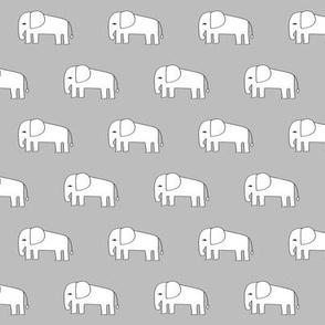 grey elephant fabric // nursery baby elephants design andrea lauren fabric