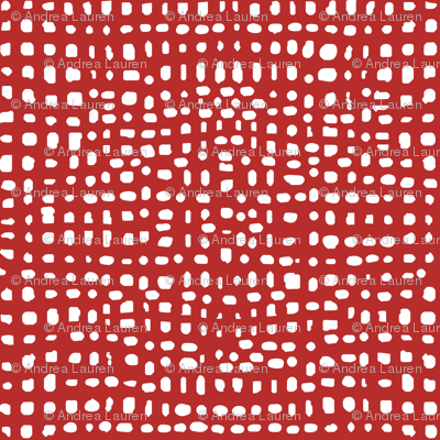 weave fabric // red grid fabric andrea lauren fabric