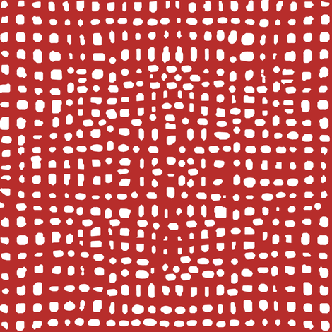 weave fabric // red grid fabric andrea lauren fabric fabric by andrea_lauren on Spoonflower - custom fabric