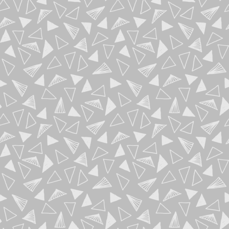 Triangles Fabric Grey Tone On By Andrea Lauren Spoonflower