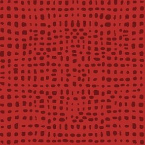 red grid fabric // red tone on tone quilting fabric coordinate