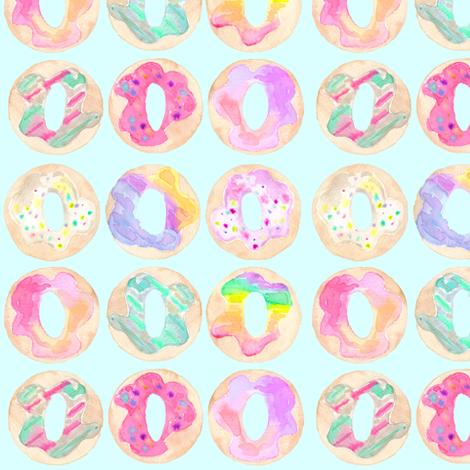 donut shop flavor blue fabric by erinanne on Spoonflower - custom fabric