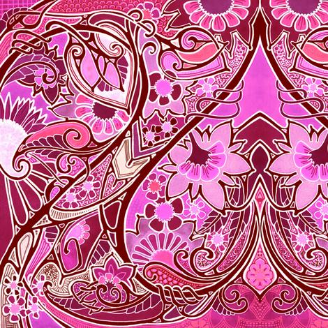 Be Still My Swirly Curl Heart  fabric by edsel2084 on Spoonflower - custom fabric