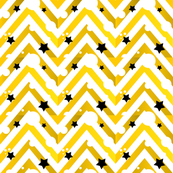 Golden Chevron And Stars