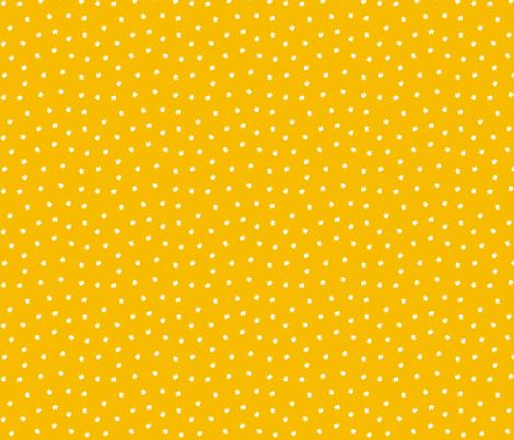 Dino Footprints Ditsy Mustard fabric by lellobird on Spoonflower - custom fabric