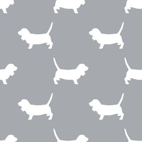 Basset Hound silhouette fabric quarry