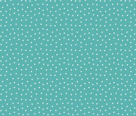 Dino Footprints Ditsy Teal fabric by lellobird on Spoonflower - custom fabric
