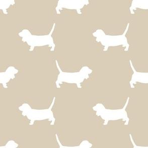 Basset Hound silhouette fabric sand