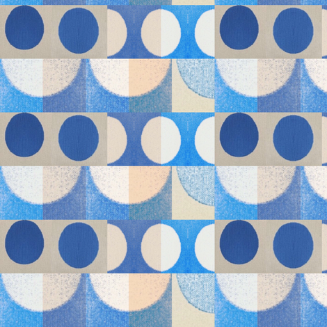 Blue mosaic fabric by miamaria on Spoonflower - custom fabric