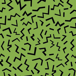 memphis fabric lime zigzags 80s 90s revival fabric 2017 kids summer fabric