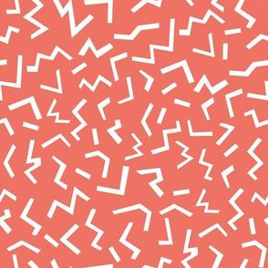 memphis fabric orange shapes 80s 90s revival fabric 2017 kids summer fabric