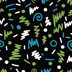 memphis fabric lime shapes 80s 90s revival fabric 2017 kids summer fabric