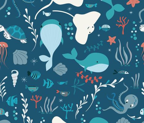 Sea creatures 004 fabric by bluelela on Spoonflower - custom fabric