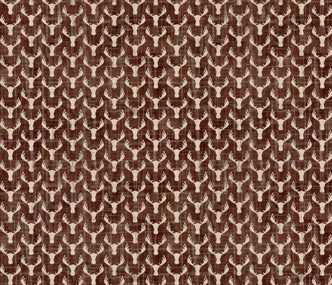 Moose Antlers Earth Brown fabric by sarah_treu on Spoonflower - custom fabric