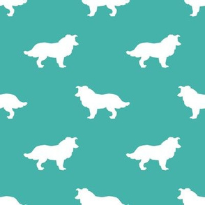 Border Collie silhouette turquoise