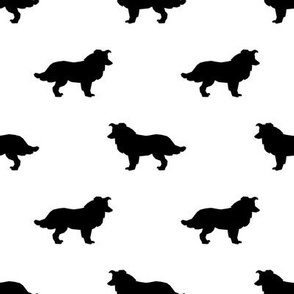 Border Collie silhouette white