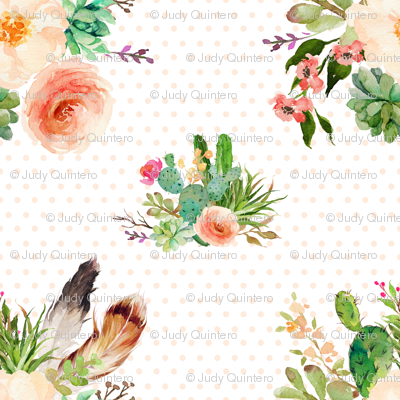 Jen's Floral Bunch / Polka Dots