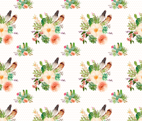 Jen's Floral Bunch / Polka Dots fabric by shopcabin on Spoonflower - custom fabric
