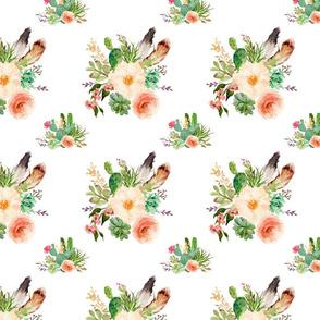 Jen's Floral Bunch /  WHITE