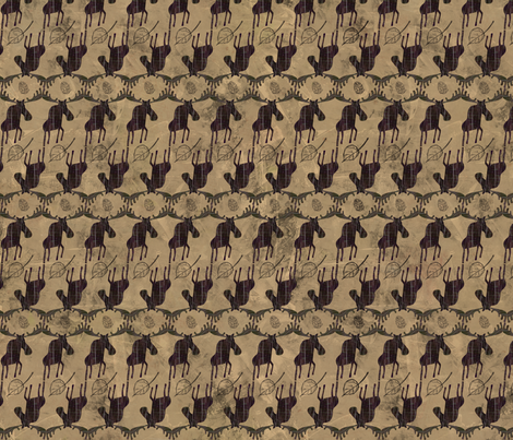 Moose Antlers and Pinecones fabric by sarah_treu on Spoonflower - custom fabric