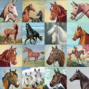 Paint By Number Horses - medium