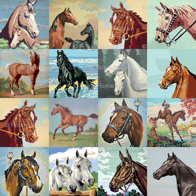Paint By Number Horses - large