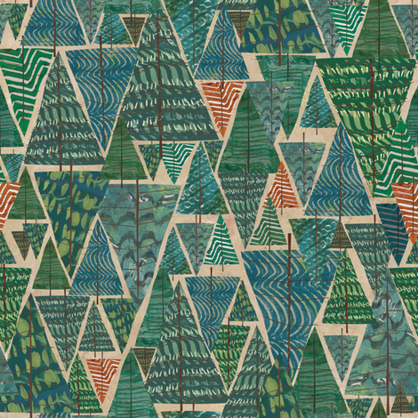 A Walk in the Woods fabric by sarah_treu on Spoonflower - custom fabric