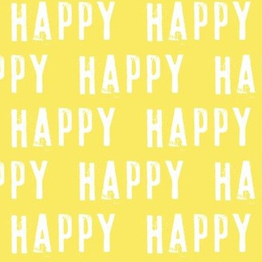 happy on yellow