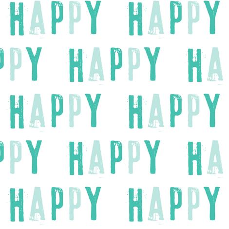 Happy - typography fabric fabric by littlearrowdesign on Spoonflower - custom fabric