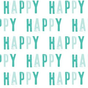 Happy - typography fabric