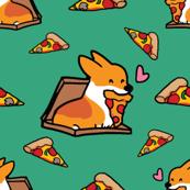 Red Pizza is Life Corgi