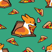 Red Pizza is Life Corgi