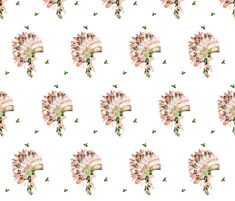 "5.25"" Cactus Peach Headdress fabric by shopcabin on Spoonflower - custom fabric"