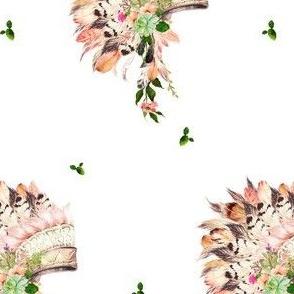 """5.25"""" Cactus Peach Headdress"""