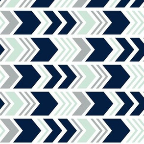 Northern Lights Chevron // Navy/Mint/Grey (90)