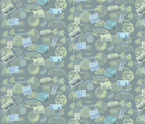 Buckminster Fuller Tribute fabric by roxiespeople on Spoonflower - custom fabric