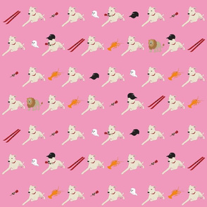 Valentine's animal motif print