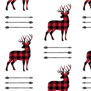 buffalo plaid buck with arrow stack