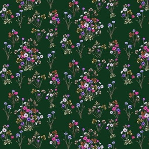 Meadowsweet Hunter Green and Bold Pink
