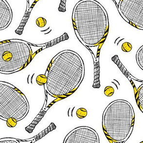 Tennis rackets - sport game