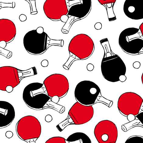 Table tennis - ping pong bats  fabric by revista on Spoonflower - custom fabric