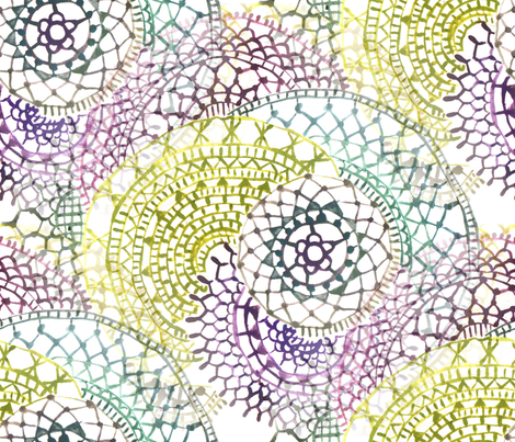 mandala watercolor Zen art fabric by mimipinto on Spoonflower - custom fabric