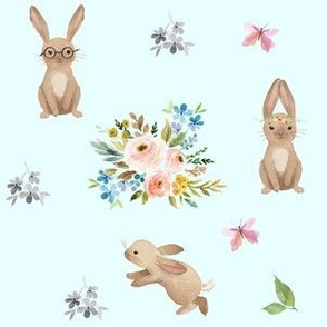 Spring Time Fun Bunnies / Blue