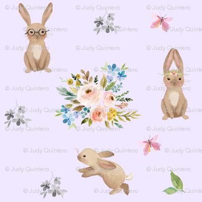Spring Time Fun Bunnies / Lilac