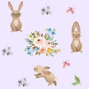 Spring Time Fun Bunnies / Lilac