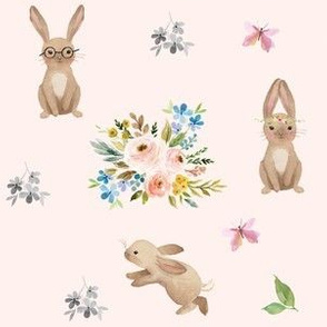 Spring Time Fun Bunnies / Pink
